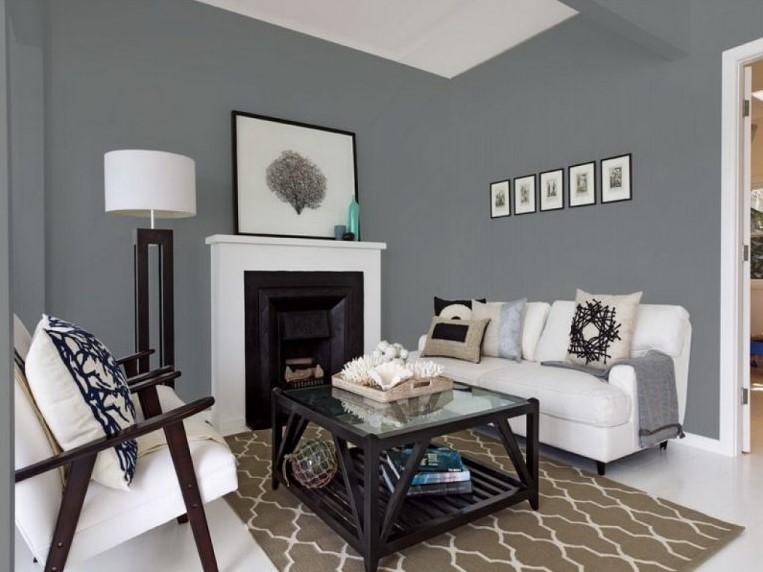 40 Kombinasi Warna Cat Ruang Tamu Yang Bagus