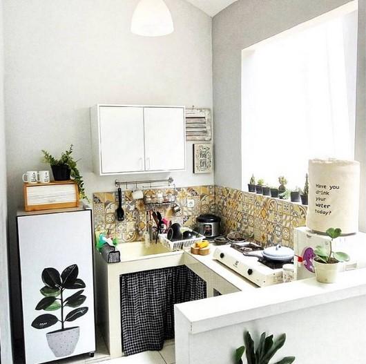 27 Desain Dapur Kecil Minimalis Yang Artistik Cantik Rumahpedia