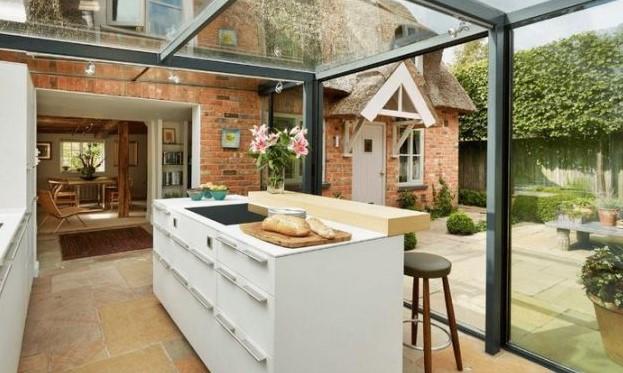 Desain Dapur Mungil Modern Outdoor