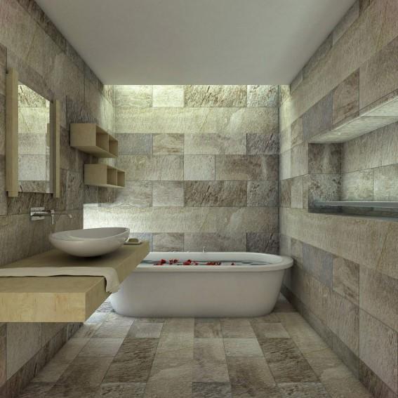 Desain Kamar Mandi Batu Marmer