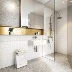 Desain Kamar Mandi Hotel dengan Nuansa Putih