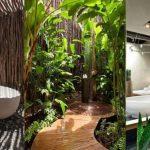Desain Kamar Mandi Natural Outdoor