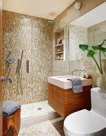 Desain Kamar Mandi Shower Tanpa Bathtub