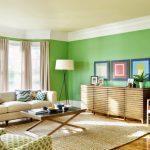 Cat Ruang Tamu Minimalis Warna Hijau Muda