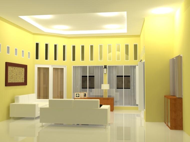 Cat Ruang Tamu Minimalis Warna Kuning