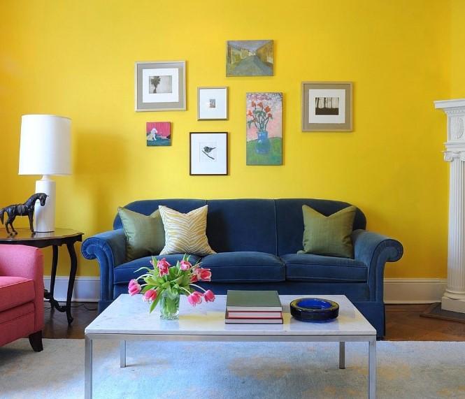 Cat Ruang Tamu Minimalis Warna Lemon
