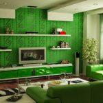 Cat Ruang Tamu Warna Hijau Lumut
