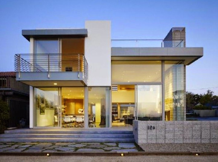 Contoh Denah Rumah Minimalis Modern 2 Lantai