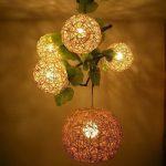 Contoh Lampu Hias Bunga Dinding