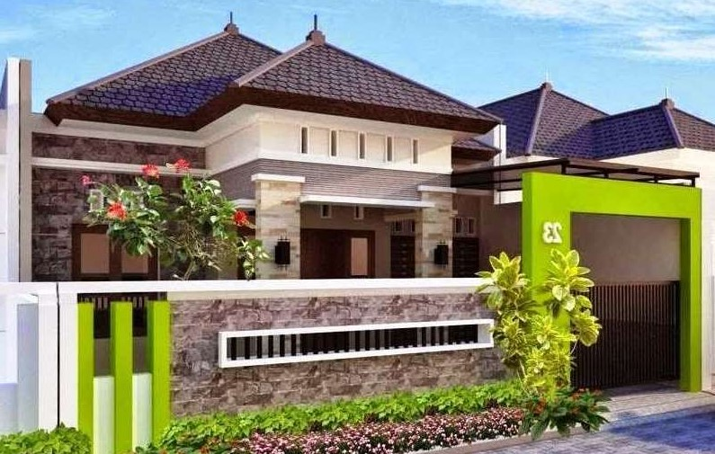 Pagar Rumah Minimalis Dengan Batu Alam 2019 - Pagar Rumah