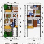 Denah Desain Interior Rumah Type 36
