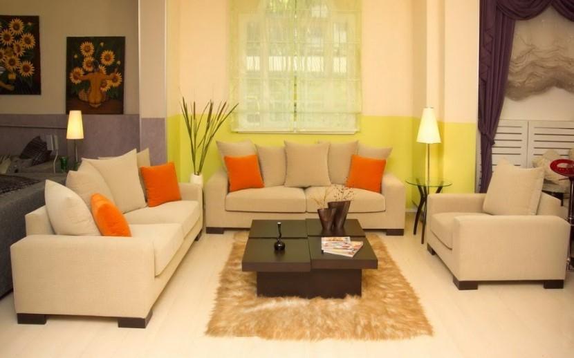 Desain Interior Cat Ruang Tamu