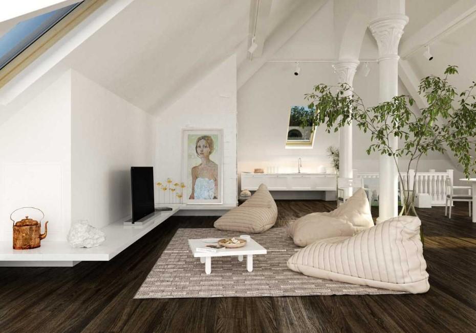 Desain Interior Ruang Tamu Lesehan Minimalis