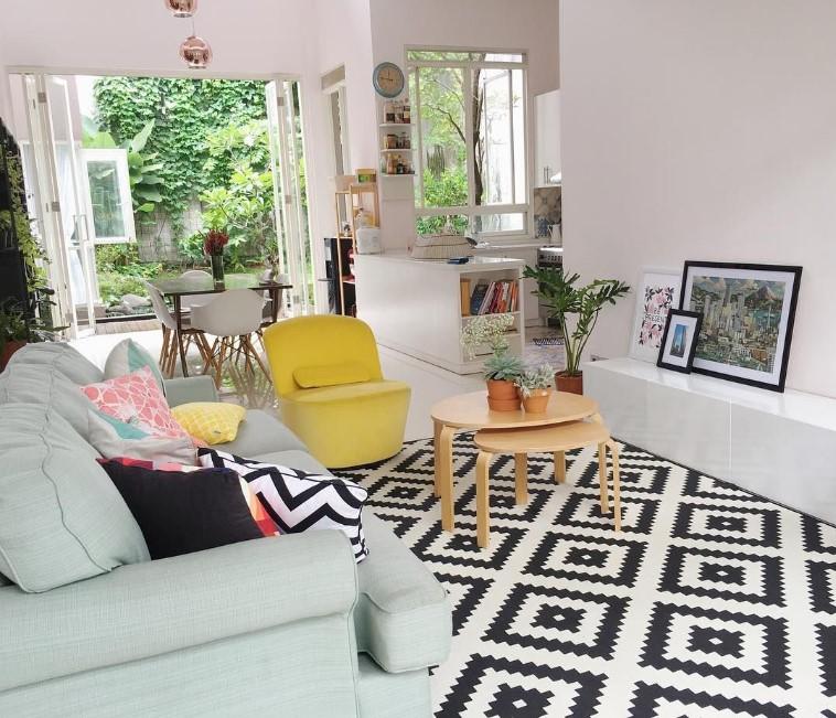 Desain Interior Ruang Tamu Minimalis Kaya Warna