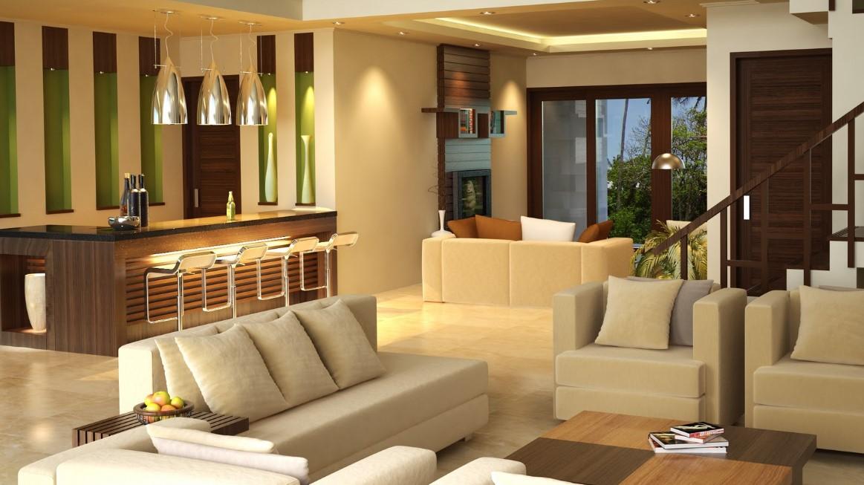 Desain Interior Ruang Tamu Minimalis Mewah