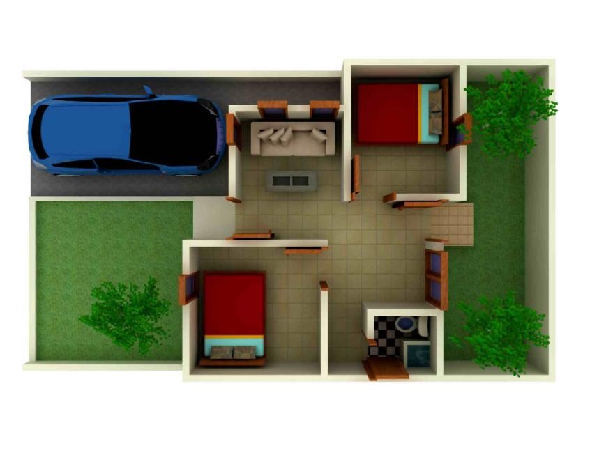Desain Interior Rumah Type 36 2 Kamar