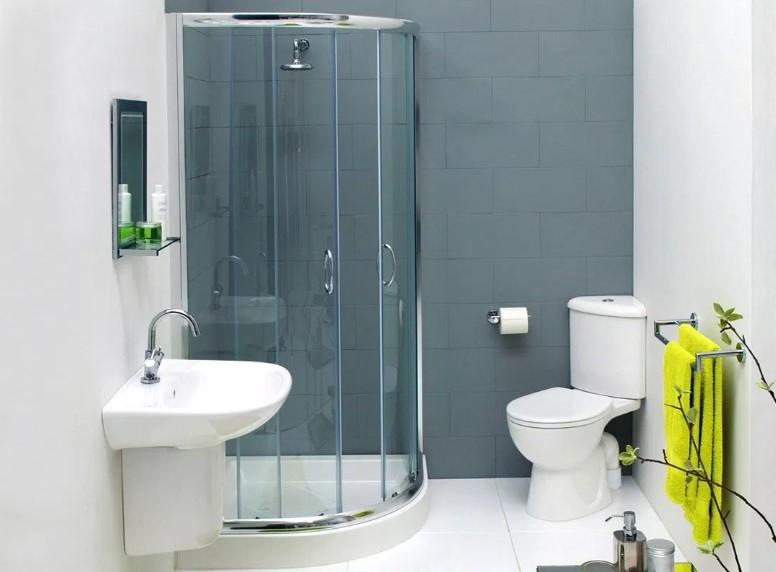 Desain Kamar Mandi Kecil dengan Shower