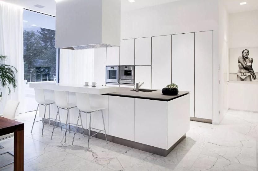 Desain Keramik Lantai Dapur Marble Putih