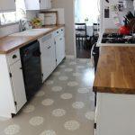 Desain Keramik Lantai Dapur Motif Bunga
