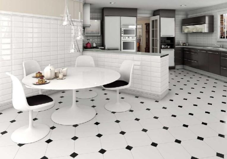 Desain Keramik Lantai Dapur Warna Putih