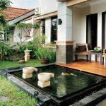 Desain Kolam Ikan Teras Rumah