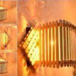 Desain Lampu Hias Dinding Dari Stik Es Krim