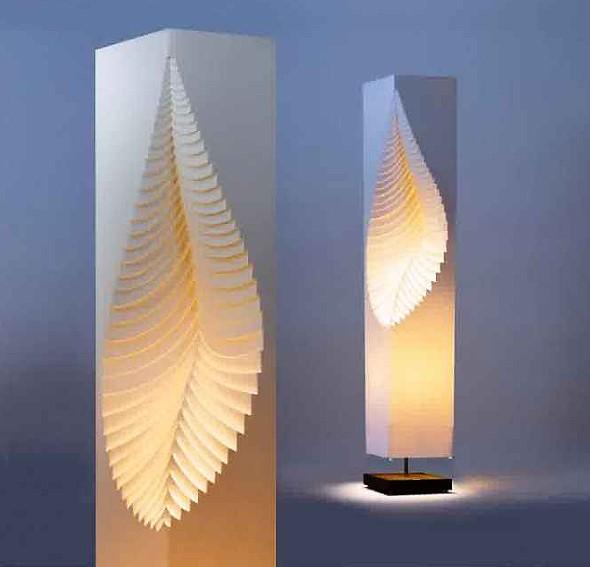 Desain Lampu Taman Minimalis Kertas