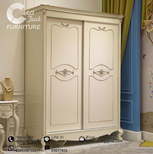 Desain Lemari Pakaian Dua Pintu Klasik