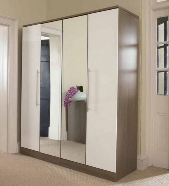 Desain Lemari Pakaian Dua Pintu dan Kaca