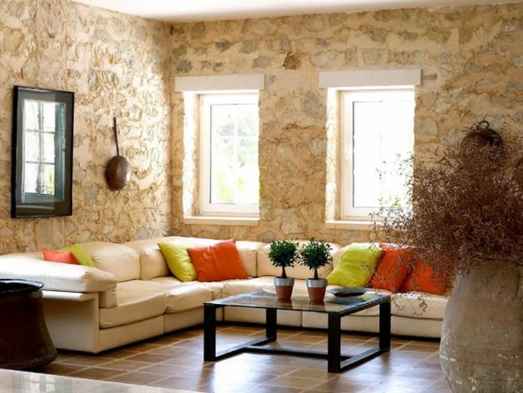 Desain Ruang Tamu Minimalis Batu Alam