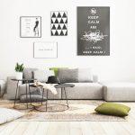 Desain Ruang Tamu Minimalis Hitam Putih