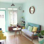 Desain Ruang Tamu Minimalis Warna Pastel