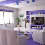 Desain Ruang Tamu Minimalis Warna Ungu