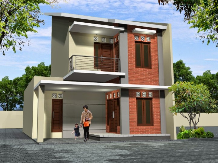 Desain Rumah 2 Lantai Minimalis Modern Elegan