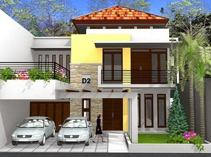 Desain Rumah Minimalis Modern 2 Lantai Dengan Garasi