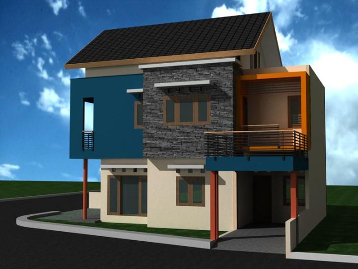 Desain Rumah Minimalis Modern 2 Lantai Sederhana