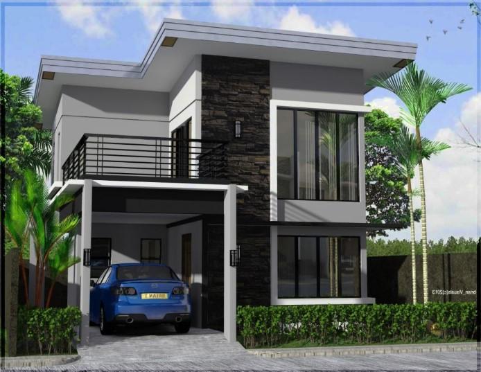 27 Desain Rumah Minimalis Modern 2 Lantai Terbaru 2020