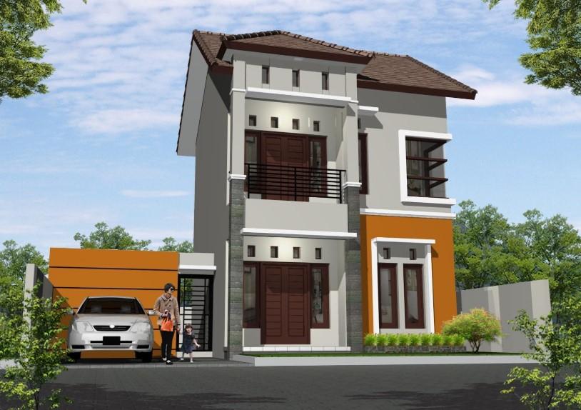 Desain Rumah Minimalis Modern 2 Lantai Type 54