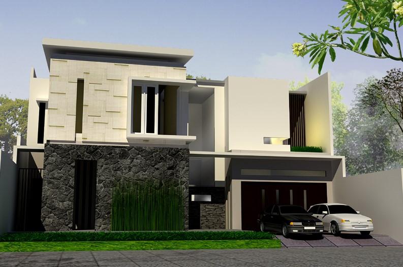 Gambar Rumah Minimalis Modern 2 Lantai Tampak Depan