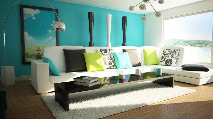 Hague Blue Sebagai Cat Ruang Tamu