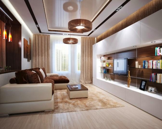 Kombinasi Cat Ruang Tamu 3 Warna