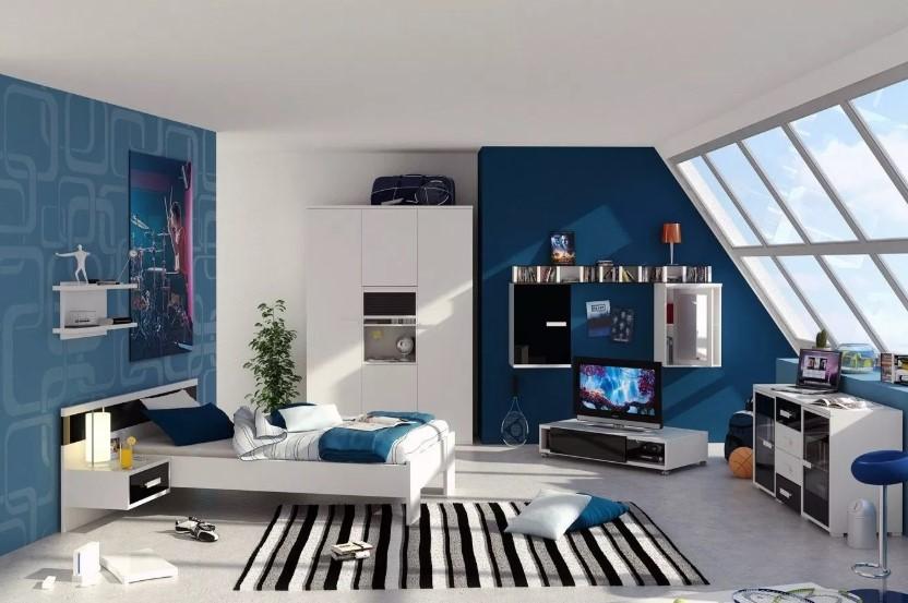 Kombinasi Warna Cat Ruang Tamu Pastel Dan Biru Navy