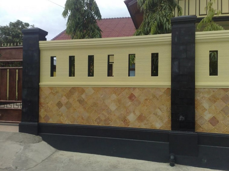Model Pagar Tembok Minimalis Modern