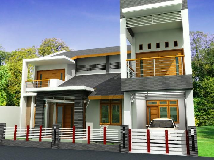 Model Rumah Minimalis Modern 2 Lantai