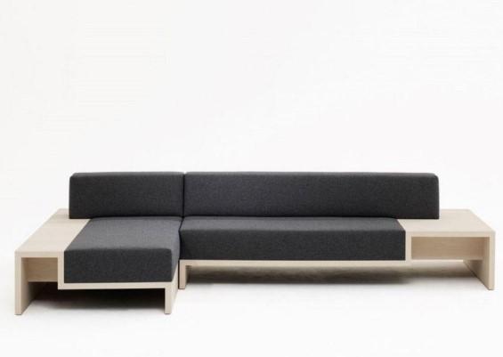 Model Sofa Minimalis Modern dengan Meja Samping