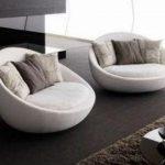 Model Sofa Terbaru dengan Sandaran Setengah Lingkaran