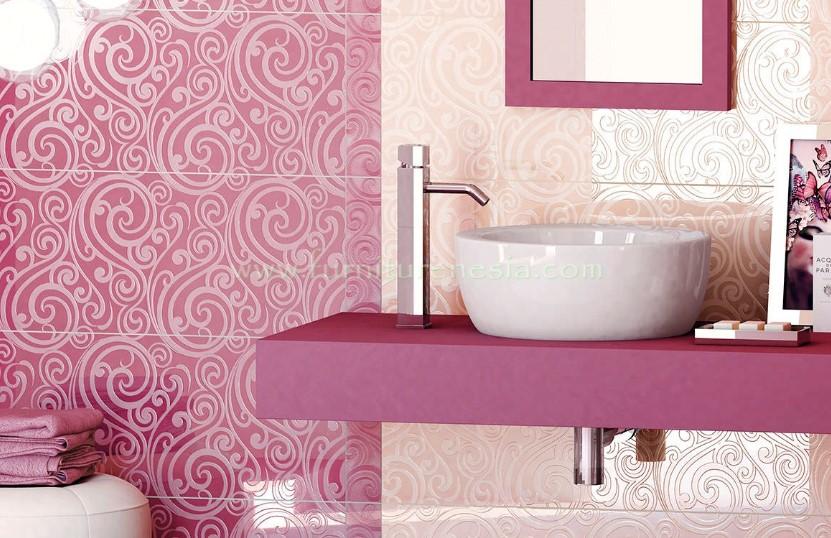 Motif Keramik Kamar Mandi Pink