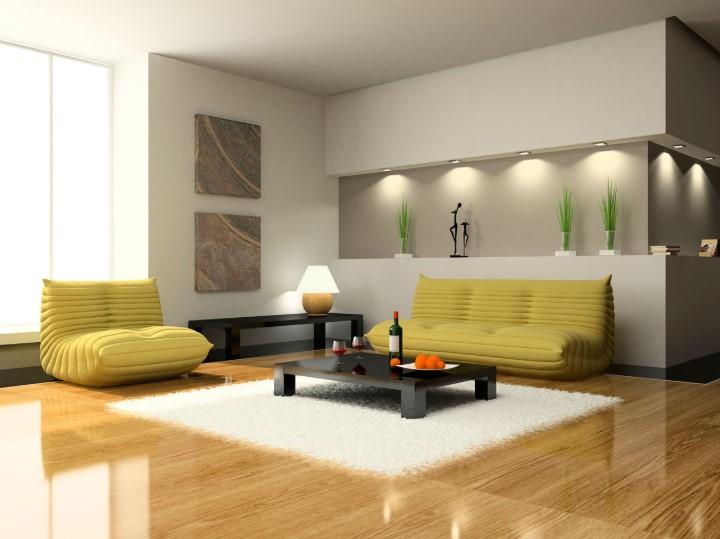 Rumah Dengan Lantai Keramik Motif Kayu