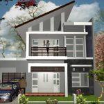 Sketsa Rumah Minimalis Modern 2 Lantai
