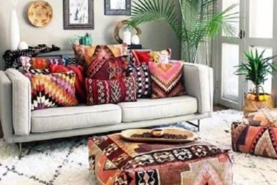 Sofa Minimalis Modern + Bantal Motif
